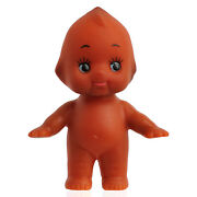 Cute Kewpie Doll Baby Cupie Vintage Cameo Figurine Rubber Ornament Collect Brown