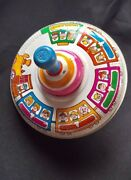 Vintage Toy Top Ohio Art Train Spinning Works Great
