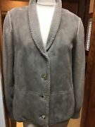 Nwt Loro Piana Taupe Cashmere Leather Shearling Sweater Jacket Sz 14/50 S Fs