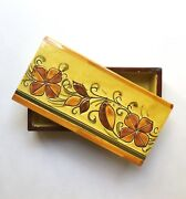 Vintage Bitossi Pottery Box, Yellow Floral Decor, 1960s Itsly Rosenthal Netter