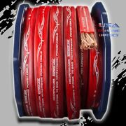 0 Gauge 50ft Red Power Ofc Wire Stranded Copper Flat Marine Cable 1/0 Awg Volt
