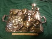 Vintage Silver Plated Tea Set Good Condition Wm Rogers And Reed Andbaton Bowl