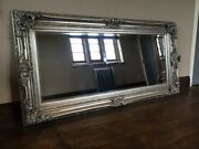 Antique Silver Ornate Large Statement French Leaner Dress Floor Wall Mirror 7ft