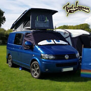 Vw T5 Van Black Out Blinds Window Screen Cover Frost Protection Wrap Eyes Blue