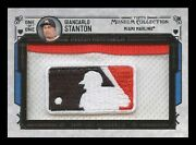 2015 Topps Museum Collection Giancarlo Stanton 1/1 Game-used Logo Man Patch