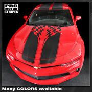 Chevrolet Camaro 2016-2018 Checkered Sport Stripes Decals W/ Roof Choose Color