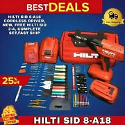 Hilti Sid 8-a18 Cordless Driver New Free Smart Watch Complete Setfast Ship