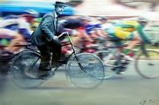 Time Cyclist - Award Winning Original Painting On Canvas By Artist William Iii