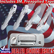 For 2016 2017 2018 2019 Toyota Tacoma Chrome Door Handle Covers Nosmart+tailgate