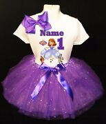 Sofia The Firstwith Name1st First Birthday Purple Tutu Dress Fast Shipping
