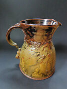 SIGNED studio art POTTERY BIG VASE PITCHER 70s Mid Century Modern Glick McGrath