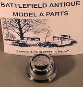 1928-1929 Model A Ford Stainless Steel Ford Script Hub Cap For 21 Wheels