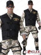 Seal Team Men Costume Adult Military Force Uniform Halloween Army Party Outfit