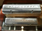 1955-1959 Nos Chevrolet Corvette 7 Fin Staggered Bolt Valve Covers 3726086 Ncrs