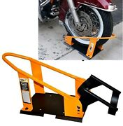 Motorcycle Wheel Chock Stand Harley Davidson Tire Road Mount Floor Truck Trailer