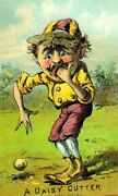 1870's-80's A Daisy Cutter Right Field Baseball Player Victorian Trade Card P74