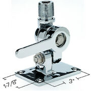 Deck Mount Vhf Radio Chrome Plated Brass Marine Antenna Ratchet Mount For Boats