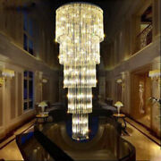 Top Modern Led K9 Clear Crystal Ceiling Light Hotel Lobby Stairs Pendant Lamp