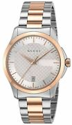 Quartz G-timeless Silver Dial Menand039s Watch Two Tone Stainless Ya126473