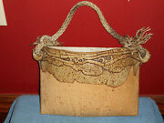 Original Pottery Wall Pocket Flower Vase Hanging Rope Planter Signed B.Williams