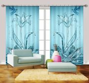 3d Lake Lily 714 Blockout Photo Curtain Print Curtains Drapes Fabric Window Us