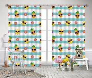 3d Pineapple 84 Blockout Photo Curtain Print Curtains Drapes Fabric Window Us