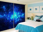 3d Bule Starry Sky 7 Blockout Photo Print Curtains Drapes Fabric Window Us Carly