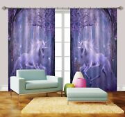 3d Unicorn Fores 718 Blockout Photo Print Curtains Drapes Fabric Window Us Carly