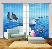 3d Dolphin Sea 759 Blockout Photo Print Curtains Drapes Fabric Window Us Carly