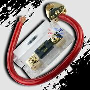 1/0 Gauge Awg Ofc Wire Kit W/platinum Battery Terminal And Anl Fuse Holder W/fuse
