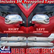 For 2004-2009 Toyota Prius Chrome Door Handle Covers With Smart Key Hole+mirrors