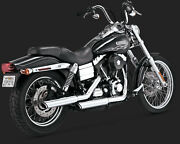 Vance And Hines 3-inch Twin Slash Slip-ons Chrome Exhaust 08-16 Hd Dyna 16845