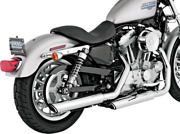 Vance And Hines 3-in Twin Slash Slip-ons Chrome 16839 Fits 2004-13 H-d Sportster
