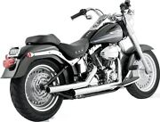 Vance And Hines Chrome 2 1/4 Straightshot Motorcycle Exhaust 86-11 Harley Softail