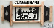Personalized Whitetail Deer - Outdoor Signs - Rustic Log Decor - Wildlife Art