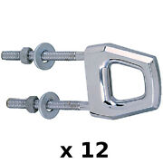 12 Pack Of Double Shank Chrome Plated Zinc Bow Or Stern Eyes For Boats