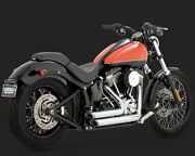 Vance And Hines 17225 Twin Slash End Short Shots Exhaust Harley Softail 2012-2017