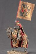 Tin Toy Soldiers Elite Painted 54 Mm European Knight - 1 End Of Xiii C