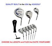Agxgolf Menand039s Magnum Xs Complete Golf Set W460 Dr +hybrid+5-9 Irons+wedge+putter