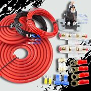 Heavy Duty Dual / Auxiliary Battery Isolator W/ Copper Cables Complete Kit Fuses