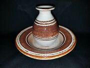 VINTAGE Deneen Pottery Sm Vase and Bowl Handcrafted Studio Pottery Signed
