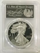 2017-w 1 Silver Eagle Pcgs Pr70 First Day Of Issue Thomas Cleveland Pop 35
