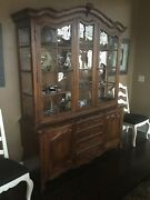 French Country Buffet And China Cabinet