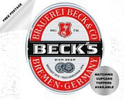 Beckand039s Beer Can And Bottle Labels Edible Icing Cake And Cupcake Toppers