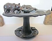 Ephraim Pottery Bears in a Stream compote - rare and beautiful
