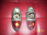 Old Chevey 1950 Tail Lites Vintage Rare Not Sure Truck Or Large Car Chrome