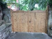 Glamis - Heavy Duty - Wooden Driveway Gates - Timber Double Entrance Bespoke