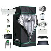 Digital Grow Indoor Grow Tent Propagation Kit Fan Carbon Filter Hlg 65 V2 4000k