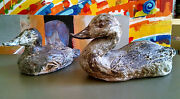 Rare Stunning Pair of Signed Ceramic Pottery Ducks, Possibly by Robert C. Fritz