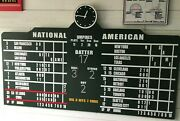 Wrigley Field Scoreboard Chicago Cubs Collectible Sign Mlb 4' Wide - Great Gift